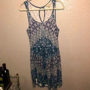 LUCKY BRAND Blue Nora Floral Dress Sz M NEW $70